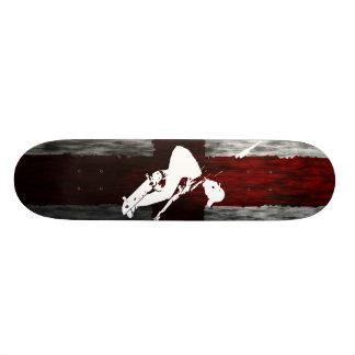England Flag Skateboarder 21.6 Cm Old School Skateboard Deck