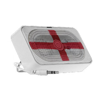 England Flag St Georges Cross Red Cross On White Travelling Speaker