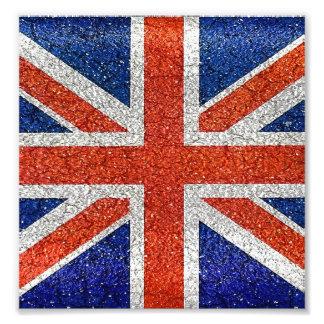 England Flag Vivid Grunge Style Photo