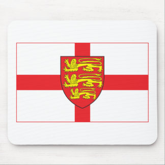 England Flag with coat of arms Mousepad