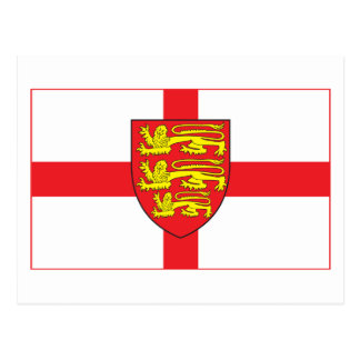 England Flag with coat of arms Postcard