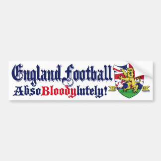 England Football King Lion by Mudge Studios Bumper Sticker