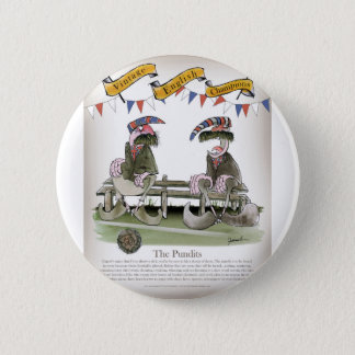 england football pundits 6 cm round badge