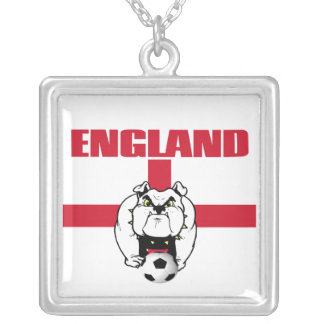 England Football Silver Plated Necklace