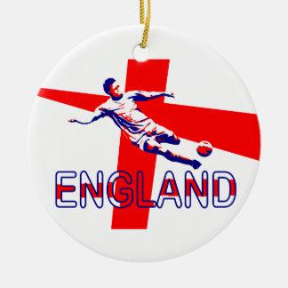 England Football Soccer #5 Round Ceramic Decoration
