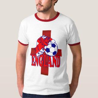 England football soccer bulldog Retro ringer Tee Shirt