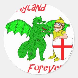 England Forever Classic Round Sticker