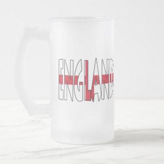 England Frosted Glass Mug