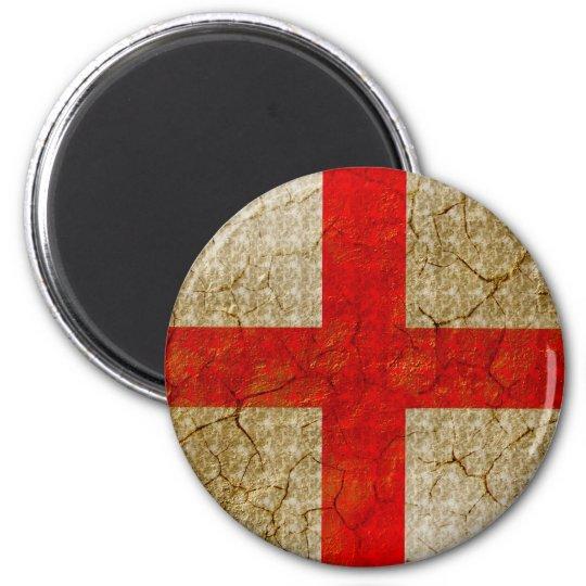 England Grunge Flag Magnet