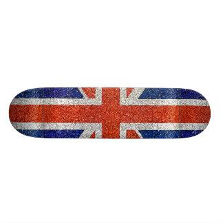England Grunge Style Flag Skate Board