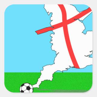 England Kicks For Goal! Fun England Merchandise Square Sticker