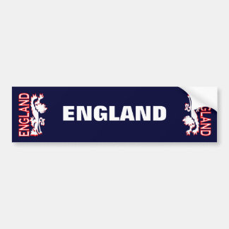 England Lion Bumper Sticker