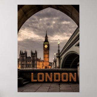 England London City Big Ben Landmark Poster