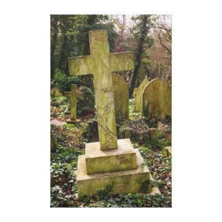 England, London, Highgate Cemetery, gravesite Canvas Print