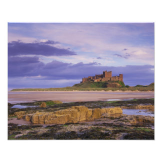 England, Northumberland, Bamburgh Castle Photographic Print