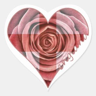 England Rose Heart Heart Sticker
