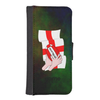 England Rugby Team Supporters Flag With Ball iPhone SE/5/5s Wallet Case