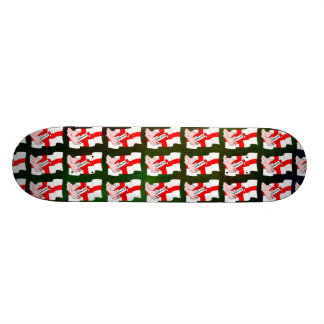 England Rugby Team Supporters Flag With Ball Skate Board Deck