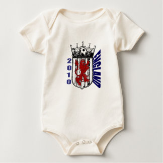 England shield soccer lovers gifts baby bodysuit