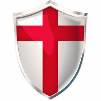England Shield Standing Photo Sculpture
