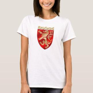 England Silky Shaded Rampant lion sheild T-Shirt