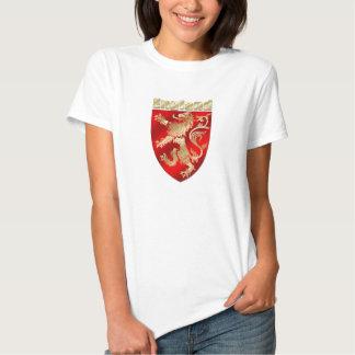 England Silky Shaded Rampant lion sheild Tshirts