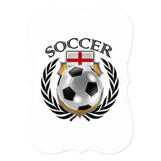 England Soccer 2016 Fan Gear 13 Cm X 18 Cm Invitation Card