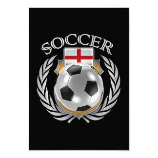 England Soccer 2016 Fan Gear 9 Cm X 13 Cm Invitation Card