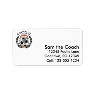 England Soccer 2016 Fan Gear Address Label