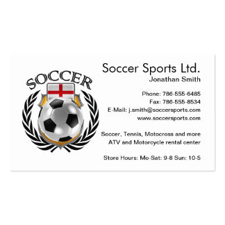 England Soccer 2016 Fan Gear Pack Of Standard Business Cards