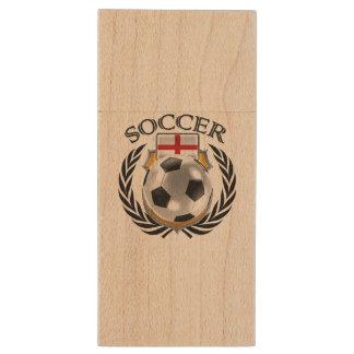 England Soccer 2016 Fan Gear Wood USB 3.0 Flash Drive