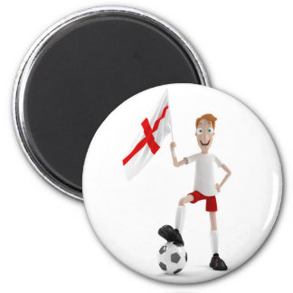 England soccer 6 cm round magnet