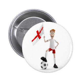England soccer pinback button