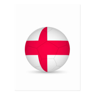 england soccer ball.jpg postcard