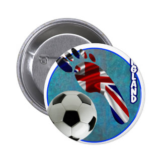 ENGLAND SOCCER BALL PRODUCTS PINBACK BUTTON