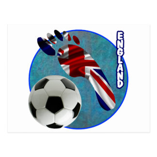 ENGLAND SOCCER BALL PRODUCTS POSTCARD