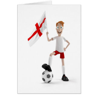 England soccer greeting cards