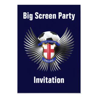 "England Soccer Champions 5"" X 7"" Invitation Card"