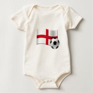 England soccer flag and ball baby bodysuit