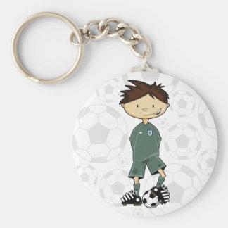 England Soccer Goalkeeper Keychain