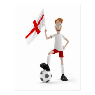 England soccer postcard
