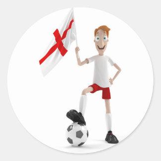 England soccer round sticker
