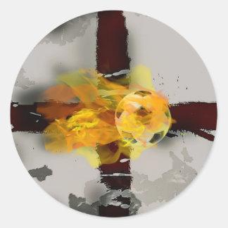 england, soccer round sticker