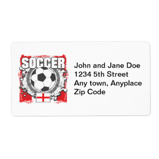 England Soccer Shipping Label