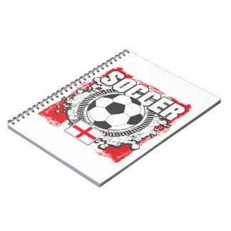 England Soccer Spiral Notebooks