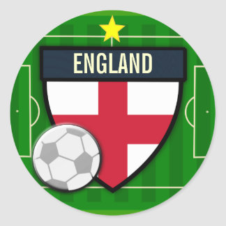 England Soccer Round Stickers