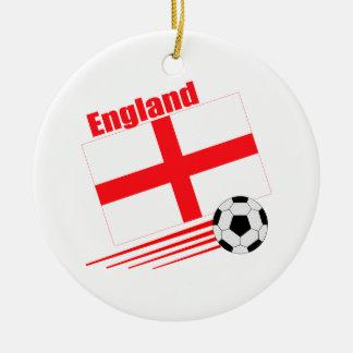England Soccer Team Round Ceramic Decoration