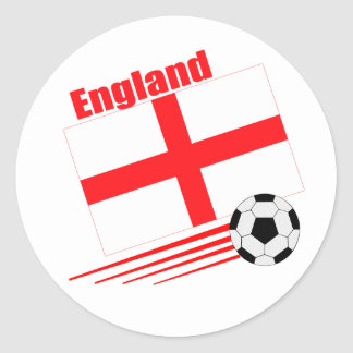 England Soccer Team Round Sticker