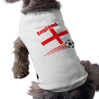 England Soccer Team Sleeveless Dog Shirt