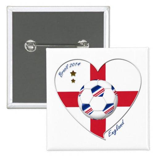 """ENGLAND"" Soccer Team. Soccer of England 2014 Buttons"